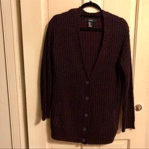 Dark burgundy cozy sweater!